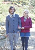 Hayfield Chunky Tweed Knitting Pattern - 7490 Cardigans